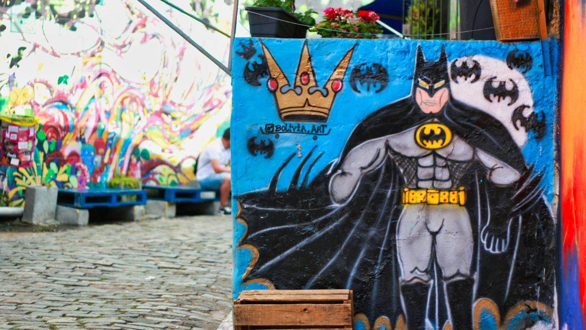 Beco do Batman – графити квартала на Сао Пауло, Бразилия